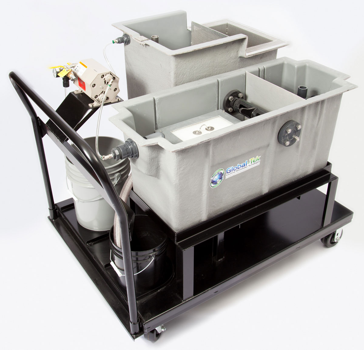 global-tek oil water separator with mobile cart